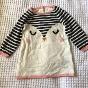 6-9 month baby girl H&M Penguin sweater dress